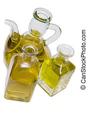 Olive oil 10 - Olive oil bottles isolated on a white...