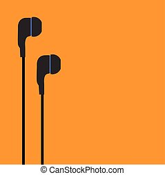 ear phones vector