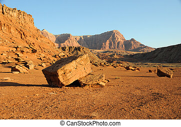 Boulder below Vermilion Cliffs