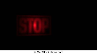 Stop screen sign blinking red - Pixeled stop screen or sign...