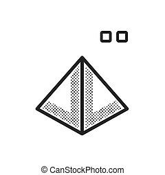 dotted pyramid 3D print icon