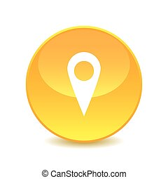 Pin map on white background , Vector.