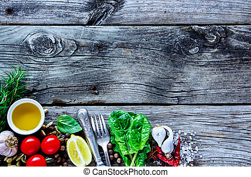 Healthy cooking background