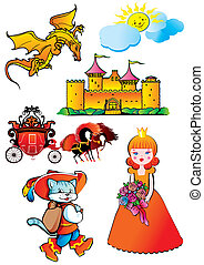 Fairy-tale Vector art-illustration on a white background