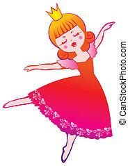 Ballerina. - Little cute fairy ballerina. Vector...