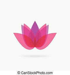 Flower icon. Lotus. Spa logo design