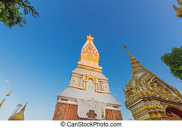 Wat Phra That Panom temple, Thailand. - Wat Phra That Phanom...