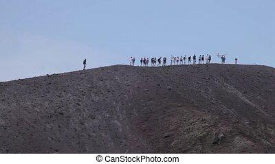 The volcano Vesuvius, Italy - Movie Mount Vesuvius in Italy....
