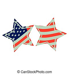 stars with stars and stripes icon