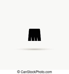 Mustache vector on white background