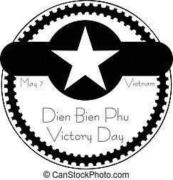 Dien Bien Phu Victory Day - may 7, Vietnam. Stamp
