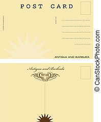 Post card in Antigua and Barbuda - Vintage post card in...