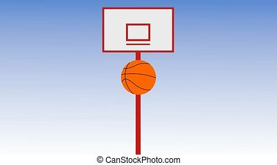 ball shooting with different basketball backboard, several...