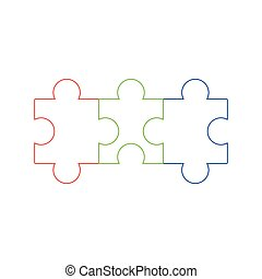 Jigsaw puzzle vector icon , All possible shapes of puzzle pieces