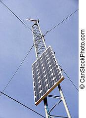 tiempo, estación,  solar,  panel