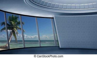 News TV Studio Set 290- Virtual Green Screen Background Loop...