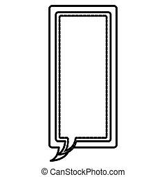 figure square chat bubbles icon, vector illustraction design