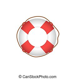 ring life , Lifebuoy / life preserver icon. Vector...