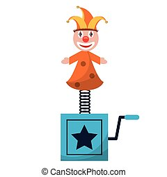 april fools  jack in the box vector illustration eps 10