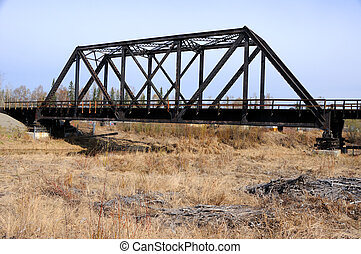 Railroad Bridge in Early Spring