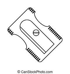 sharpener school utensil line vector illustration eps 10