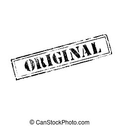 'ORIGINAL' rubber stamp