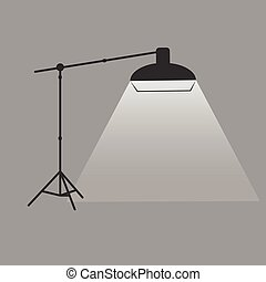 vector photographer studio lighting equipment icon