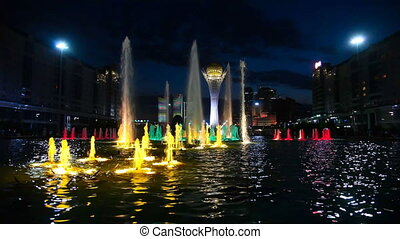 Light flower fountain.