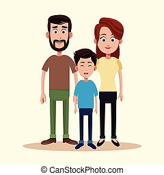 father mother and son family
