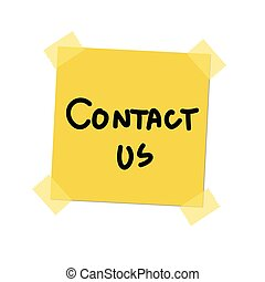 contact us paint on post it