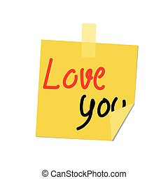 love you paint on post it