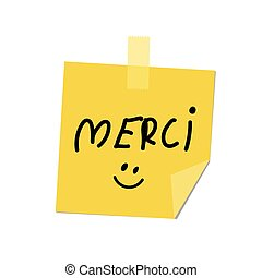 merci on post it