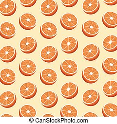 half orange fruit seamless pattern - hlaf orange fruit...