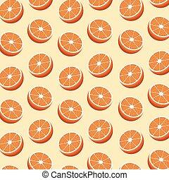 half orange fruit seamless pattern - hlaf orange fruit...