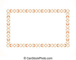 abstract artistic floral border.eps