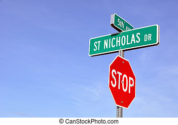 Saint Nicholas Drive in North Pole, Alaska