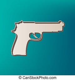 Ilustración, Color, arma de fuego, señal, Plano de fondo,...