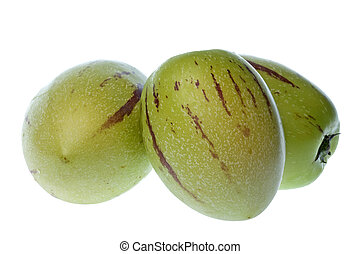 Pepino Dulce (Melon Pears) Isolated - Isolated macro image...