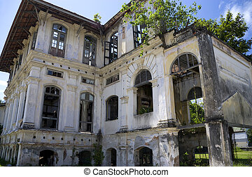 Georgetown Dilapidated Heritage Building - Image of a...