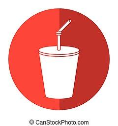 plastic cup drink cola shadow
