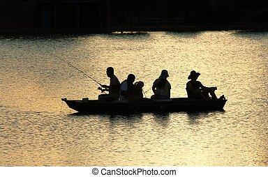 Fishing on the lake - Fishing urban lake