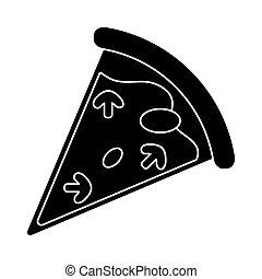 tasty pizza slice pictogram