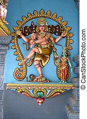 Hindu Deity - Hindu deity at a Hindu temple in Malaysia