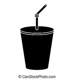 plastic cup drink cola pictogram