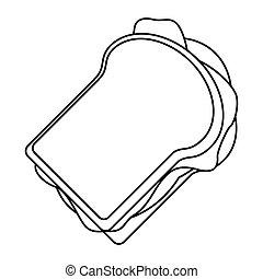 sandwich tasty food thin line