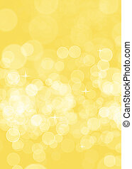Abstract yellow blurred background for birthday card