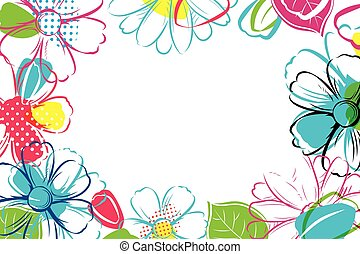 Spring season banner template background with colorful flower.Can be use voucher, wallpaper,flyers, invitation, posters, brochure, coupon discount.