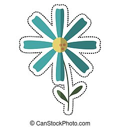 cartoon daisy flower decoration image