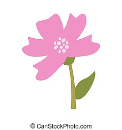 periwinkle flower decoration image vector illustration eps...