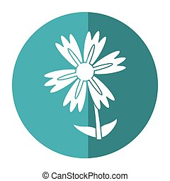 lily flower natural shadow vector illustration eps 10